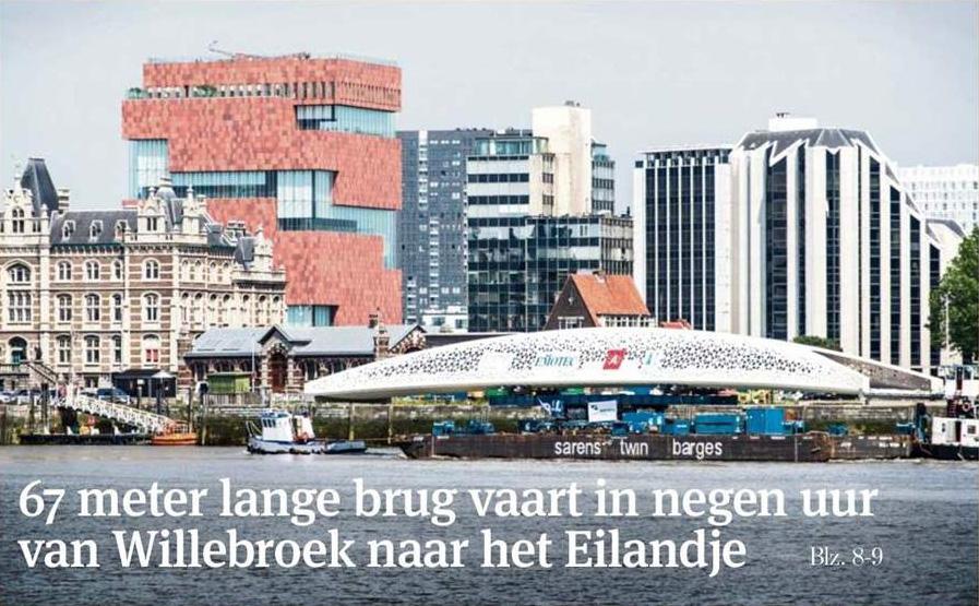'170 ton zware Parkbrug op weg naar Antwerpse Noorderplaats', Gazet Van Antwerpen, 8 juni 2016