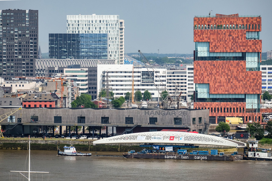 'Parkbrug aangekomen in Antwerpen', Gazet Van Antwerpen, 7 juni 2016