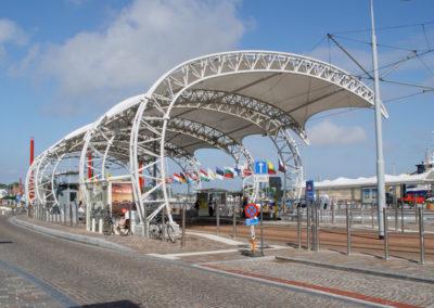 Luifels tramhalte Nieuwpoort Stad, Nieuwpoort