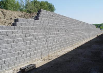 Blokkenwand en geogrid Fortrac® – Krugerbrug, Hoboken