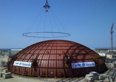 Spreader Dome – Flamanville France (Sarens & Emotec)
