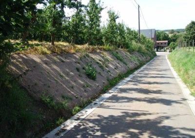 Biodegradeerbare erosiewerende mat – Bergstraat, Bekkevoort