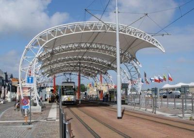 Auvents de l'arrêt de tram Nieuwpoort Stad, Nieuwpoort