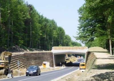 Système de mur vert – écoduct De Warande, Bierbeek