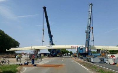 Reportage 'Werken fietsersbrug N36 in laatste rechte lijn', Focus-WTV, mai 2018 (NL)