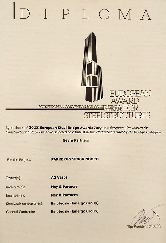 Diploma european award for steelstructures